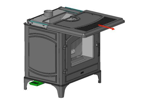 MCZ Deco Air kleiner Pelletofen Gusseisen schwarz 8 kW Thermostat ...