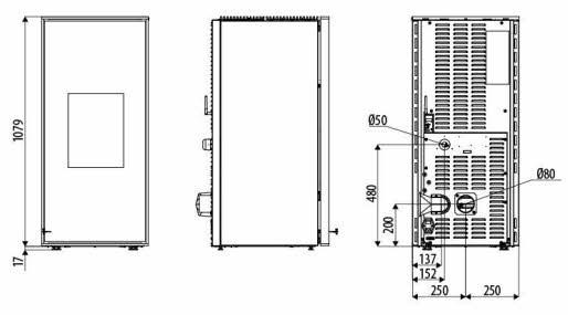 mcz pelletofen tilda comfort air 10 kw kaminofen inkl bausatz f r kanalisierung ebay. Black Bedroom Furniture Sets. Home Design Ideas