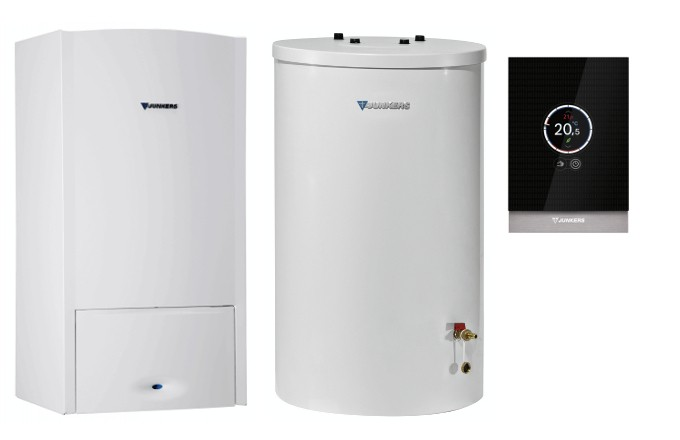 junkers brennwerttherme 14 kw zsb 14 5 120 liter warmwasserspeicher ct100 ebay. Black Bedroom Furniture Sets. Home Design Ideas