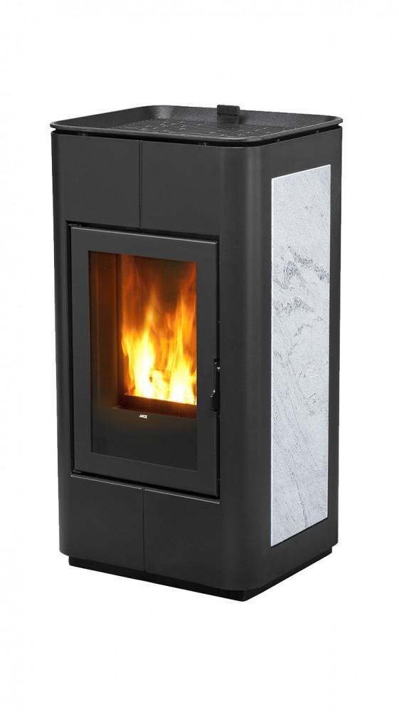 mcz leiser pellet ofen tray natural 8 kw kamin ofen pellets schwarz bronze ebay. Black Bedroom Furniture Sets. Home Design Ideas