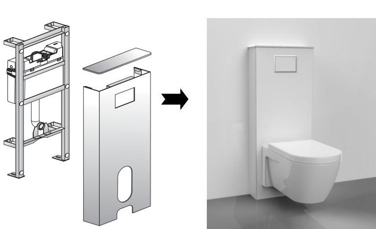 sanit sanit rmodul ineo solo wand wc wei vorwandelement montageelement. Black Bedroom Furniture Sets. Home Design Ideas