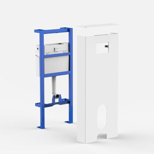 sanit sanit rmodul ineo solo stand wc wei vorwandelement montageelement. Black Bedroom Furniture Sets. Home Design Ideas