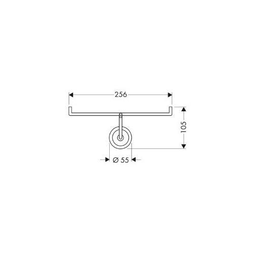 Hansgrohe Papierrollenhalter Axor Starck - technische Zeichnung