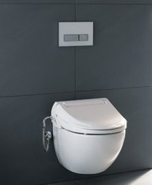 geberit dusch wc aufsatz aqua clean 4000 ebay. Black Bedroom Furniture Sets. Home Design Ideas