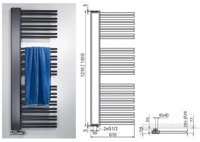 handtuchheizk rper badheizk rper softcube plus seitlich. Black Bedroom Furniture Sets. Home Design Ideas