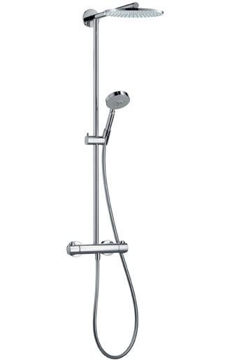 Hansgrohe Raindance Showerpipe 240 mm Brausesystem mit Kopfbrause und Handbrause 27160000