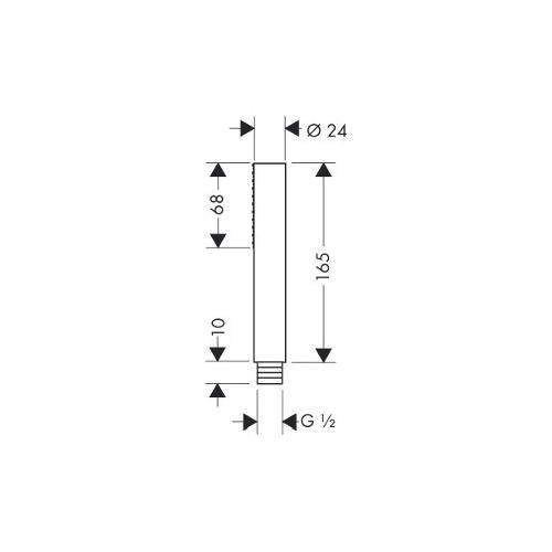 Hansgrohe Axor Starck technische Zeichnung