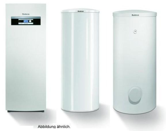 Buderus Sole/Wasser Wärmepumpen-Paket, Wärmepumpe, Pufferspeicher, Warmwasserspeicher