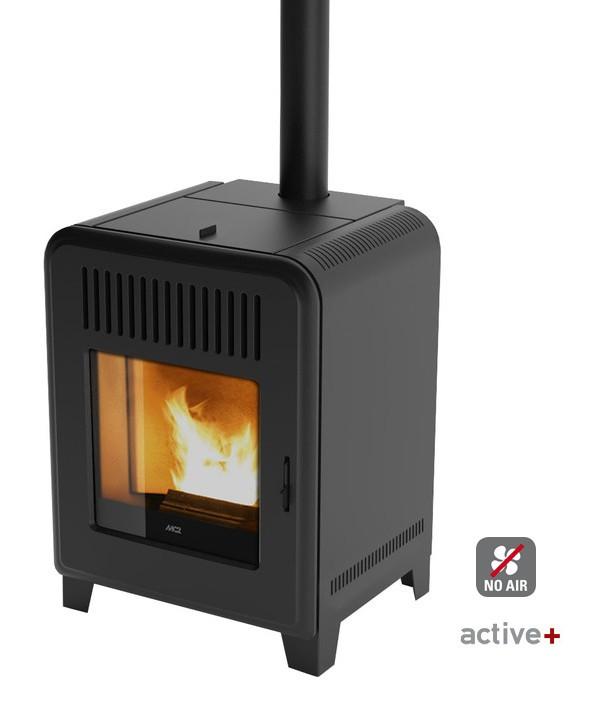 mcz pellet kaminofen cute air 8 kw 80cm hoch. Black Bedroom Furniture Sets. Home Design Ideas