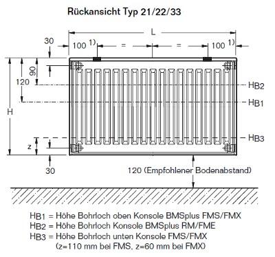 buderus kompakt heizk rper typ 33 h he 600 mm breite 400 3000 mm. Black Bedroom Furniture Sets. Home Design Ideas