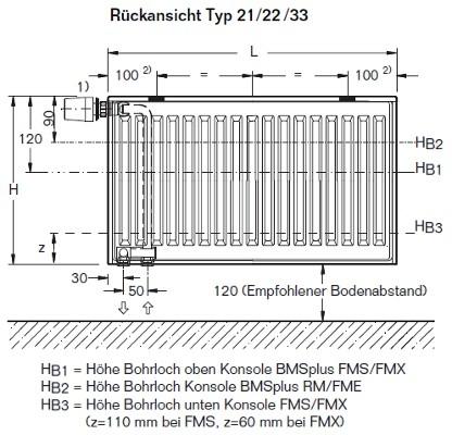 buderus ventil heizk rper typ 22 bh 300 mm bl 400 3000 mm ebay. Black Bedroom Furniture Sets. Home Design Ideas