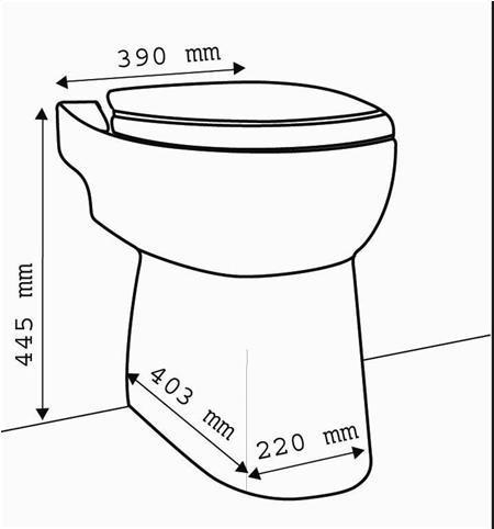 SFA Sanibroy Compact 43 WC technische Zeichnung