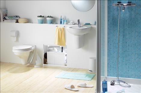 SFA Sanibroy SANIPACK Haushaltspumpe Einbaubeispiel für WC