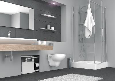 SFA Sanibroy SANIPACK Haushaltspumpe Einbaubeispiel für WC und Waschbecken