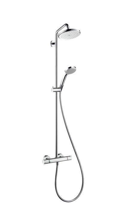 hansgrohe croma 220 air 1jet showerpipe. Black Bedroom Furniture Sets. Home Design Ideas