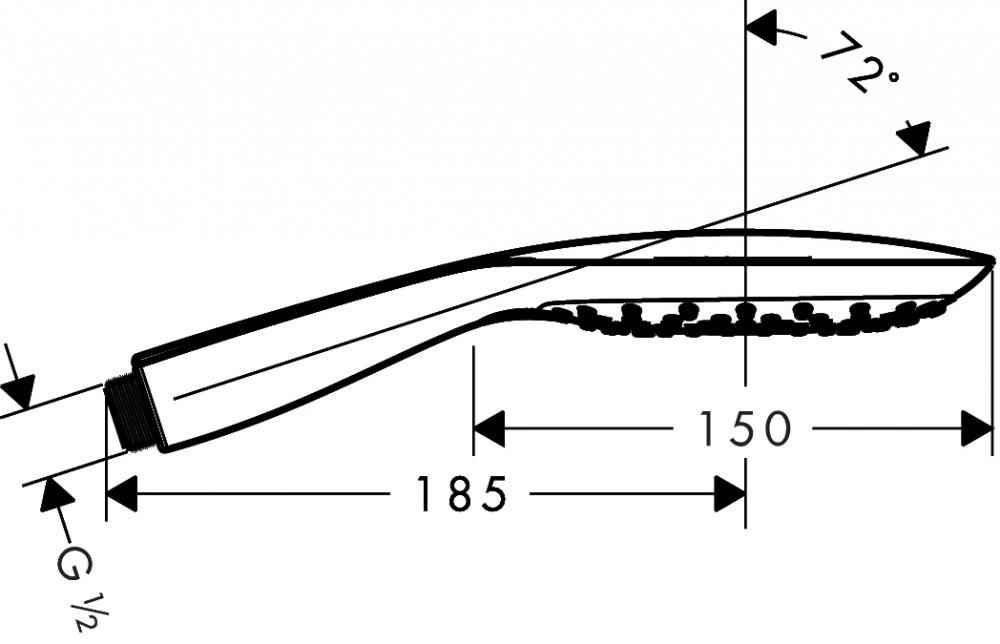 Hansgrohe Raindance Select Handbrause - technische Zeichnung