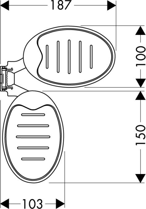 Hansgrohe Raindance Casetta Seifenschalen - technische Zeichnung