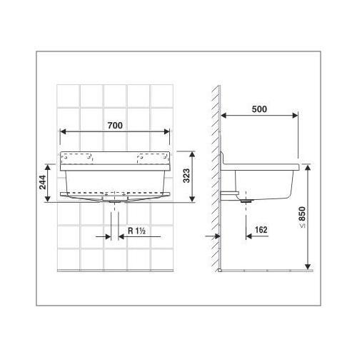 abu ausgussbecken granit maxi 70cm kunsstoff waschbecken f garten keller garage ebay. Black Bedroom Furniture Sets. Home Design Ideas