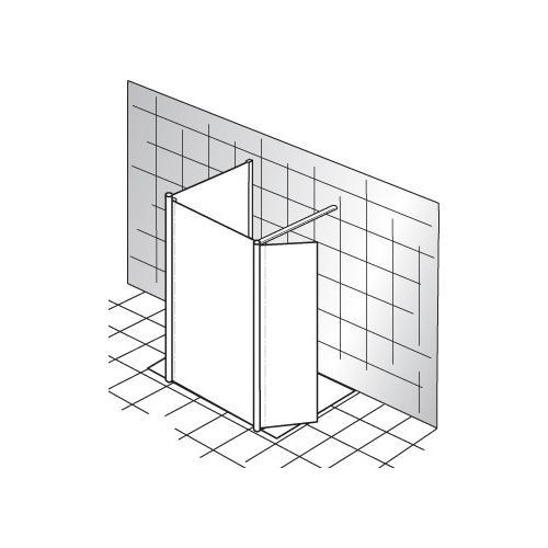 Technische Zeichnung Dusche : HSK Duschkabine Walk In Dusche Easy 1 – technische Zeichnung