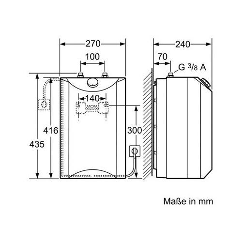 siemens 5 l kleinspeicher untertischger t wasserboiler elektroboiler do05705m ebay. Black Bedroom Furniture Sets. Home Design Ideas