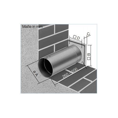 Wandeinbausatz für Kleinraumventilatoren