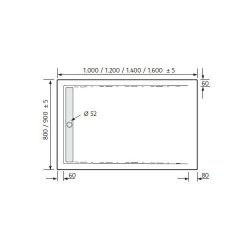 Ablaufgarnitur Dusche Flach : flach aus 5 mm ici acryl inklusive ? 52 mm ablaufgarnitur super flach