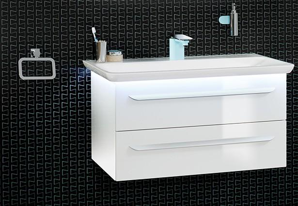 Lanzet Badmöbel Waschtischkombination M9 Waschtischunterschrank + ...